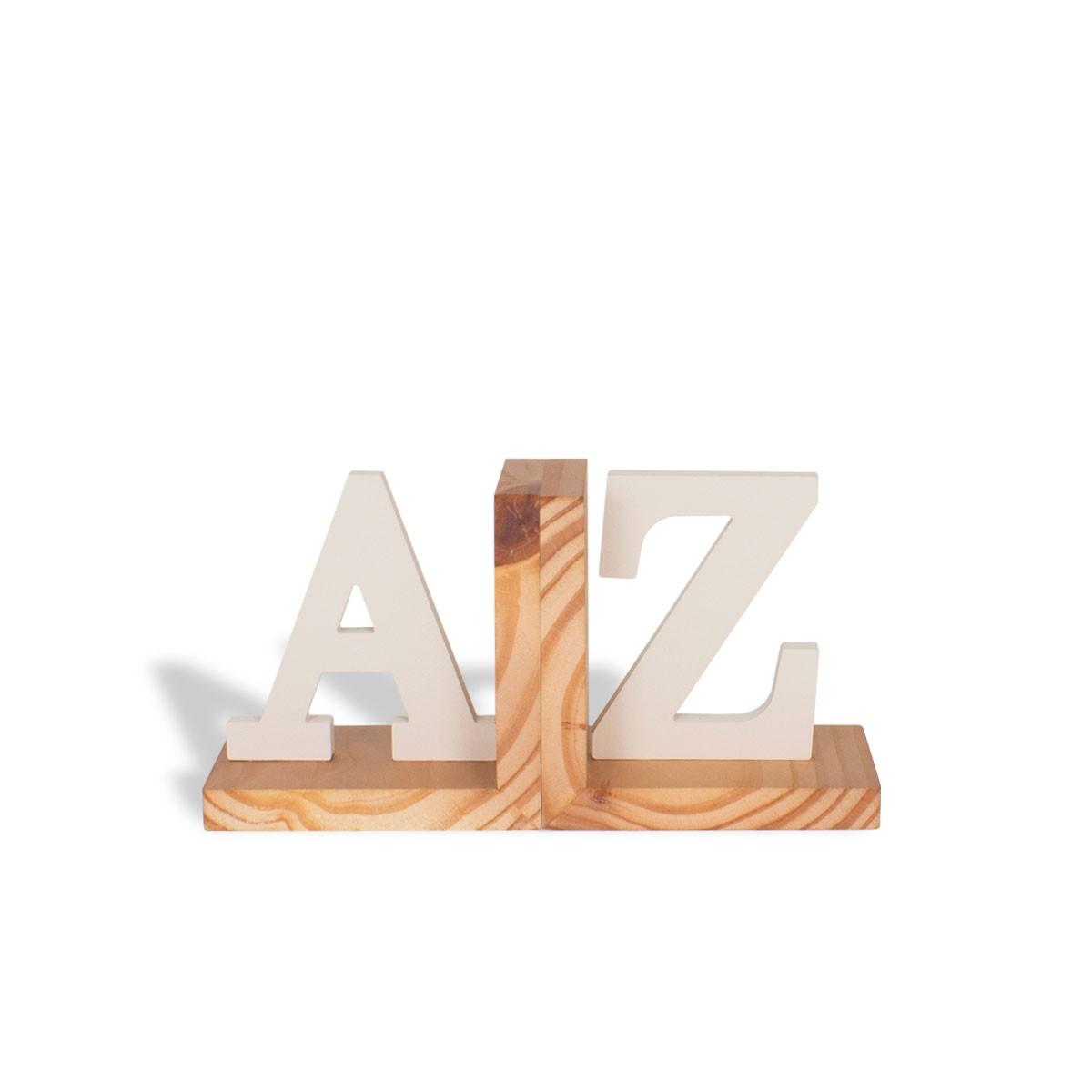 Aparador de Livros AZ Bege Madeira Pinus