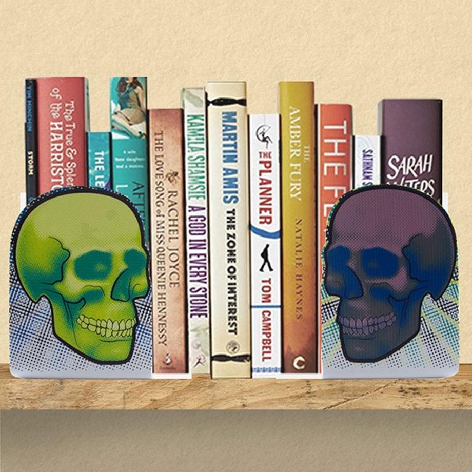 Aparador de Livros Caveiras Neon