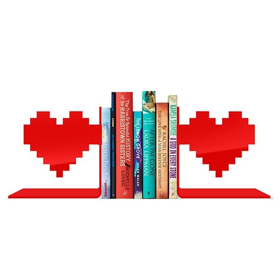 Aparador de Livros Coração Pixel