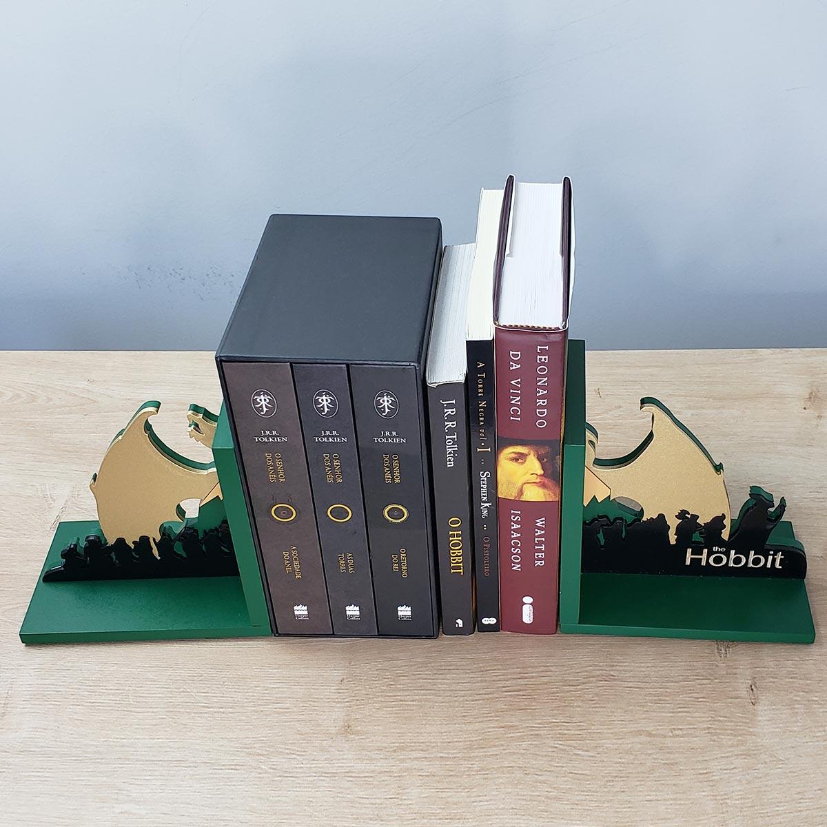 Aparador de Livros O Hobbit Anões e Dragão FBA