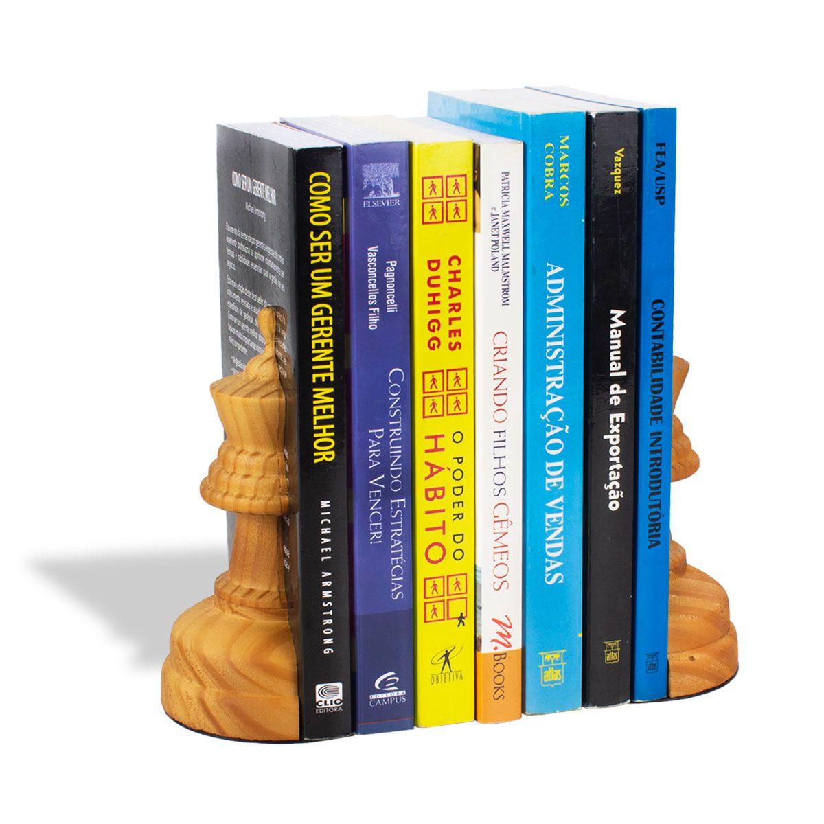 Aparador de Livros Rainha Xadrez Pinus