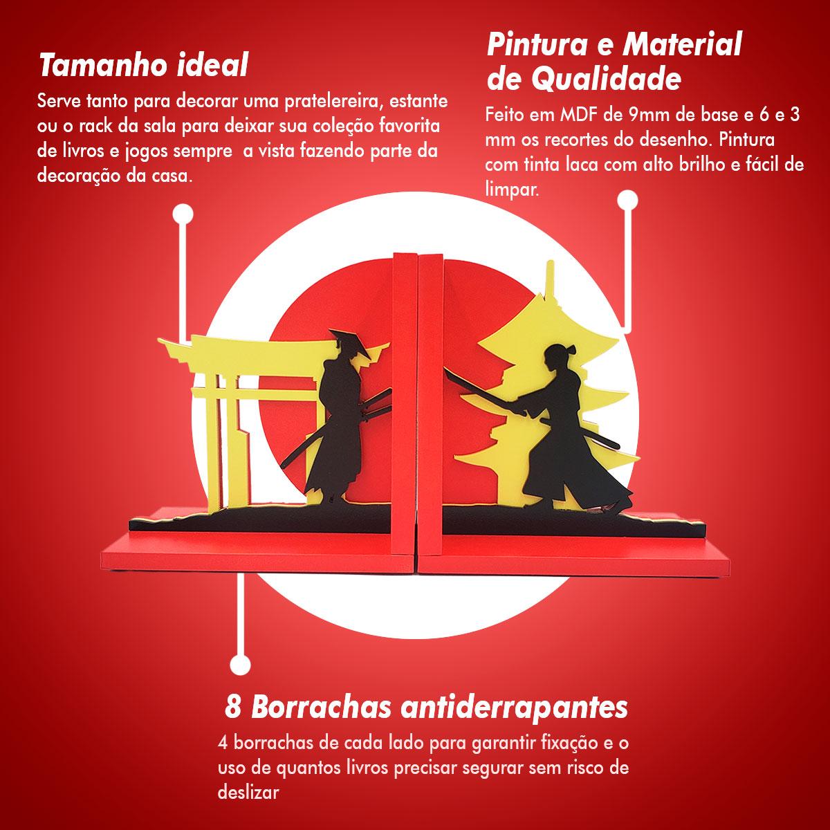 Aparador De Livros Samurai Espadachim Luta Espada