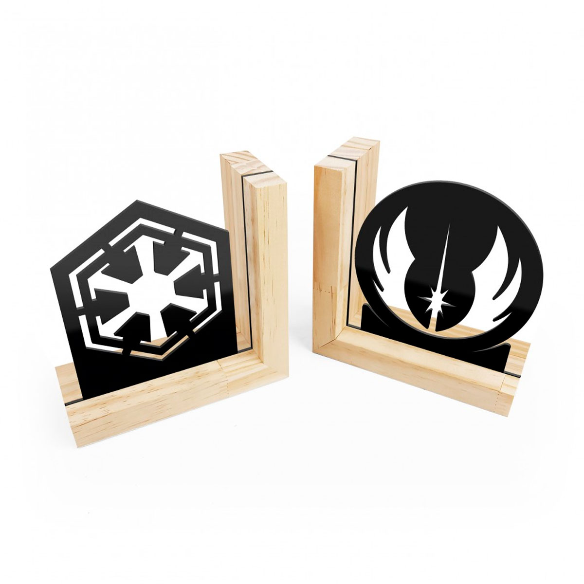 Aparador de Livros Star Wars - Jedis vs Sith Base Pinus