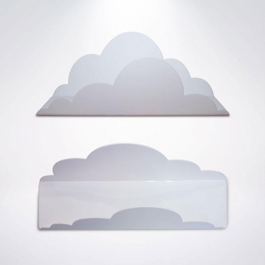 Cabideiro Gotas de Chuva com Prateleira Nuvem