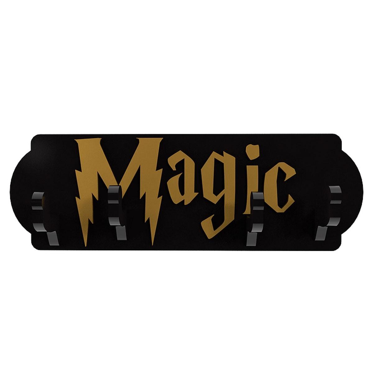 Cabideiro Porta Chaves de Madeira Harry Potter Magic