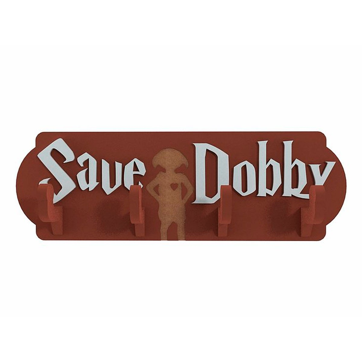 Cabideiro Porta Chaves de Madeira Harry Potter Save Dobby