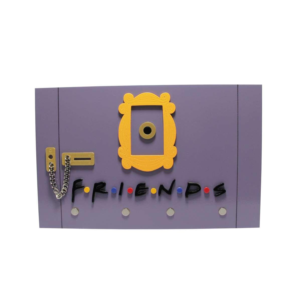 Porta Chaves de Madeira Porta Friends