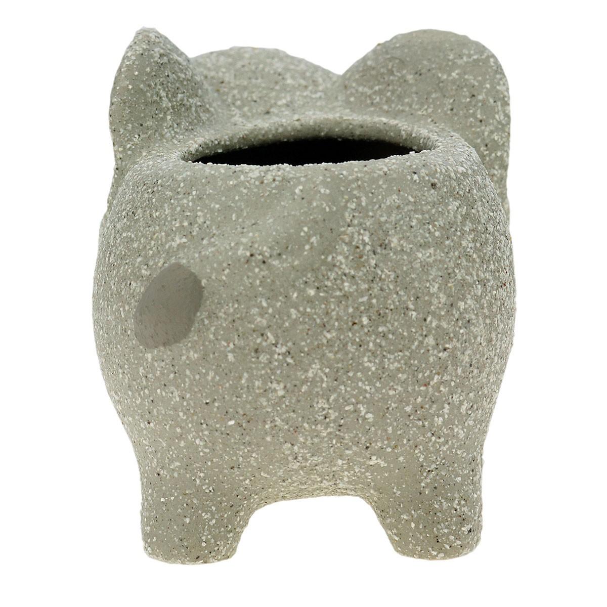 Cachepot Concreto Vaso Decorativo Baby Elefante Cinza