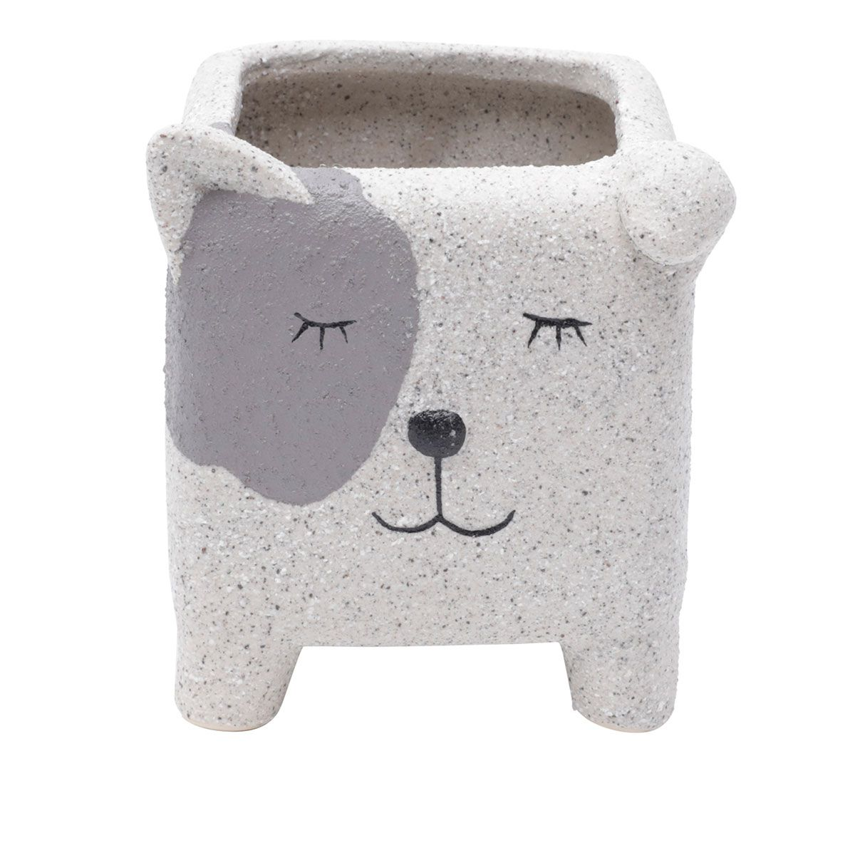 Cachepot Concreto Vaso Decorativo Sleeping Dog