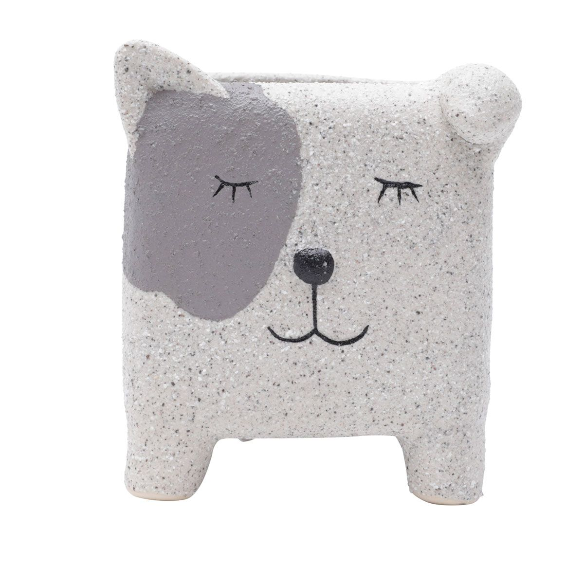 Cachepot Concreto Vaso Decorativo Sleeping Dog