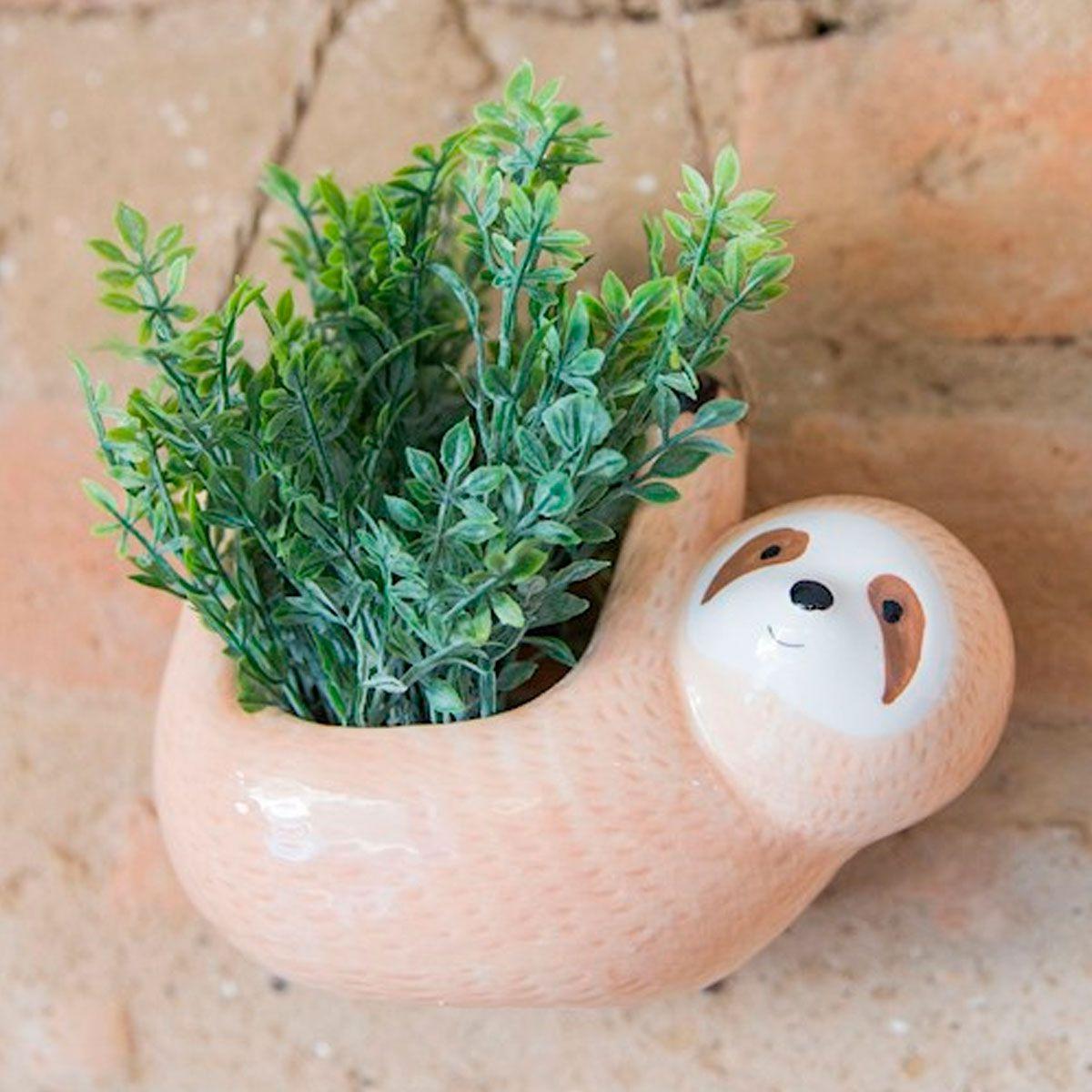 Cachepot Pendente Vaso Decorativo Bicho Preguiça
