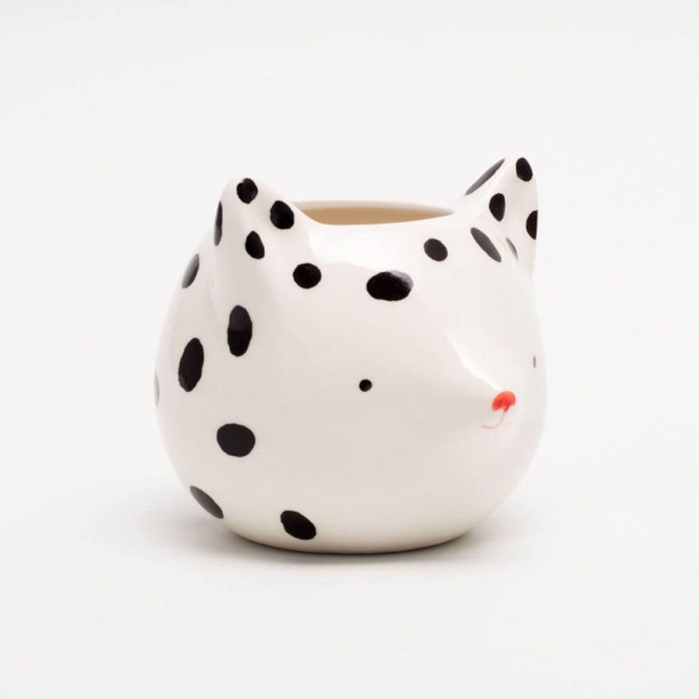 Cachepot Vaso Decorativo de Cerâmica - Fox With Dots