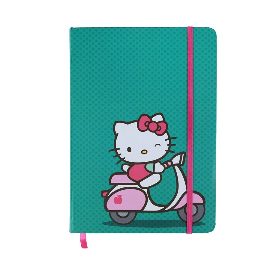 Caderneta de Anotação Hello Kitty - Ridding a Bike
