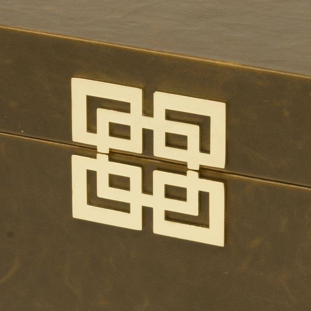 Caixa de Madeira Zig Zag Marrom
