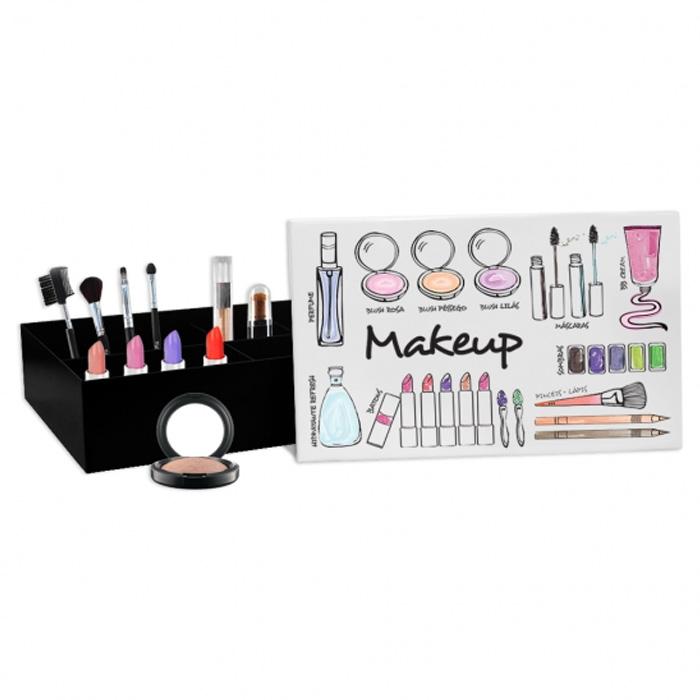 Caixa De Metal Grande Makeup Minhas Maquiagens