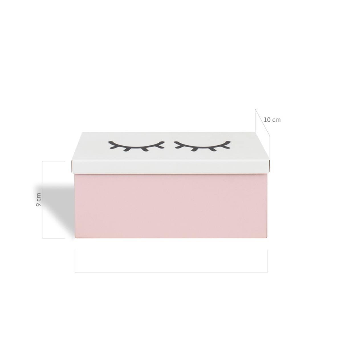 Caixa Porta Batom Cílios Rosa Nude