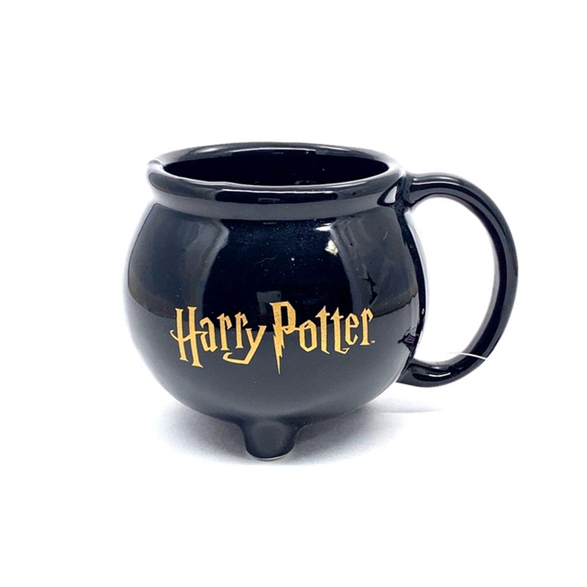 Caneca 3D Formato Caldeirão Hogwarts Harry Potter 500 ml FBA