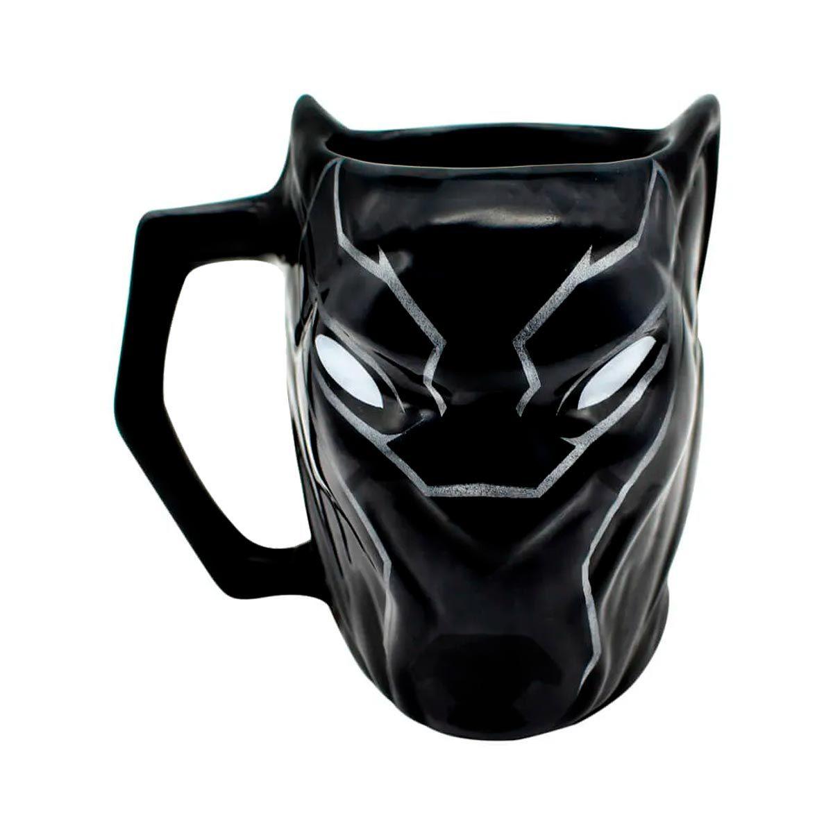 Caneca 3D Pantera Negra Marvel Vingadores 450 ml