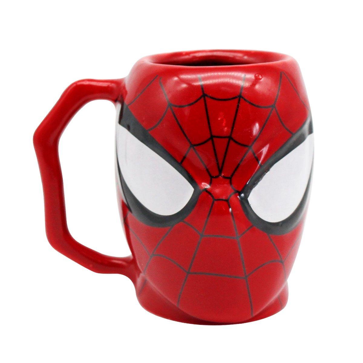 Caneca 3D Spider Man Homem Aranha Marvel 400 ml