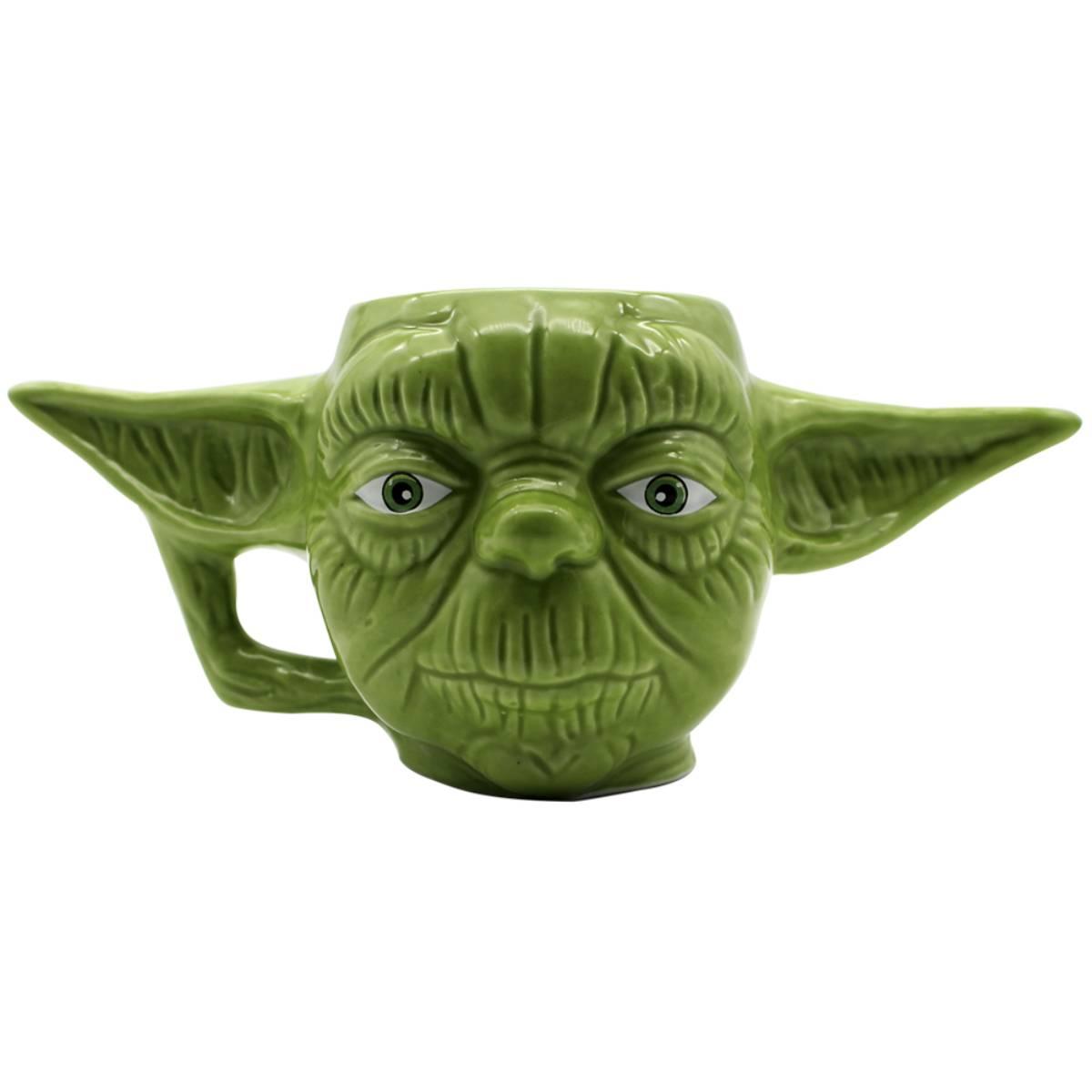 Caneca 3D Yoda Mestre Jedi Star Wars Guerra nas Estrelas