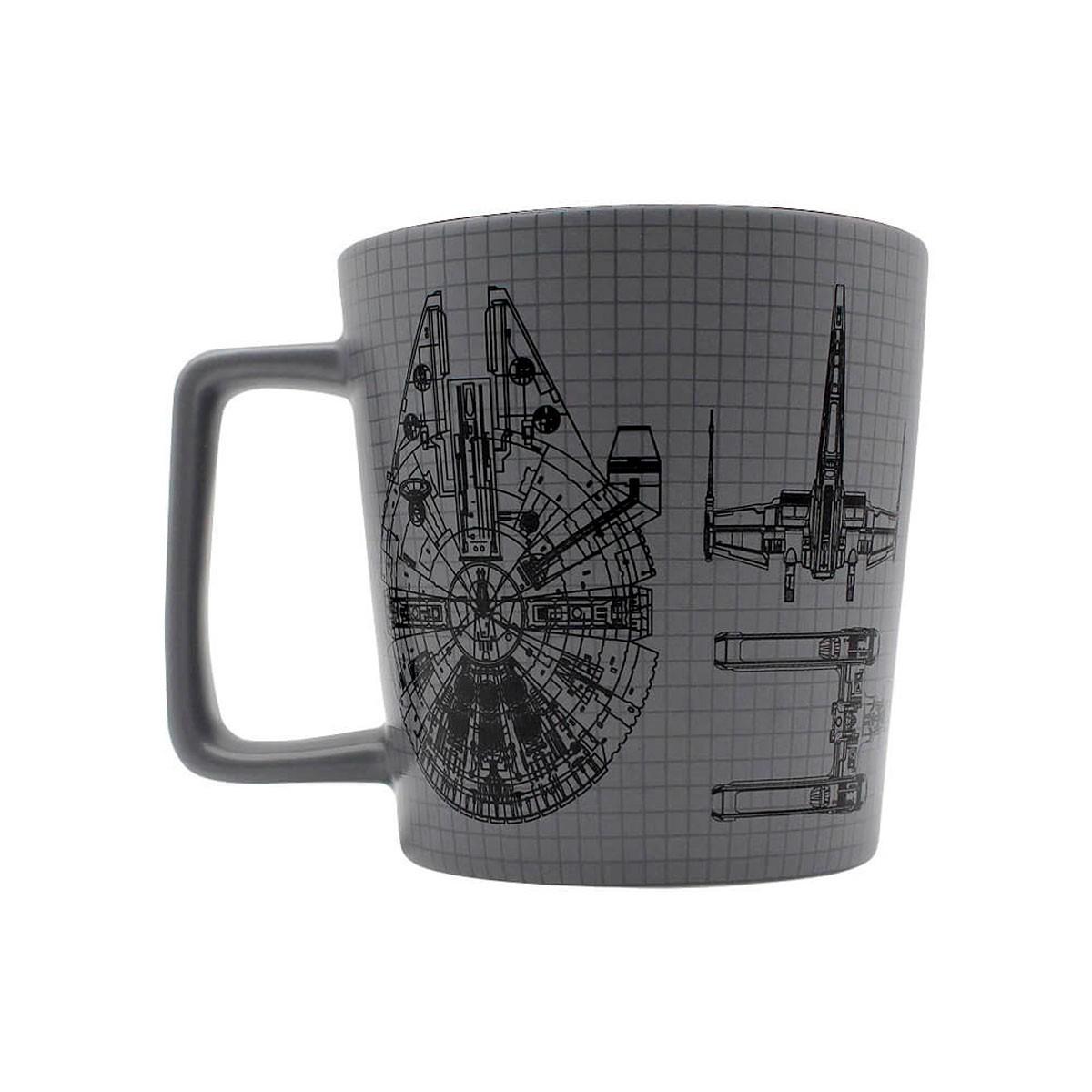 Caneca Alça Quadrada 400 ml Millenium Falcon Star Wars