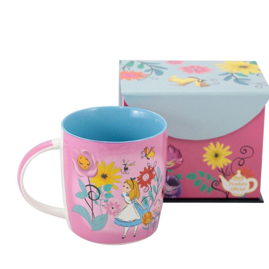 Caneca Alice no País das Maravilhas - Floral