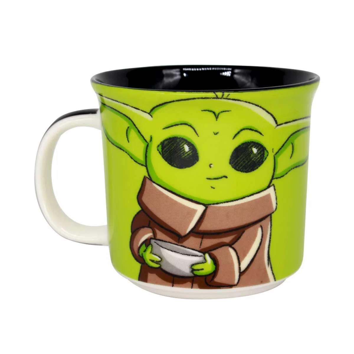 Caneca Baby Yoda Mestre Jedi Star Wars Guerra nas Estrelas