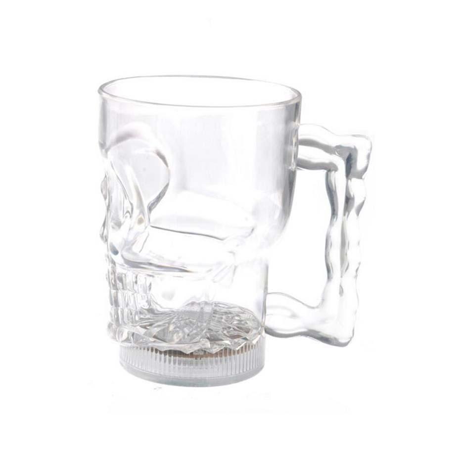 Caneca Caveira Copo Em Acrílico 600 ml Skull Hoyle Cerveja