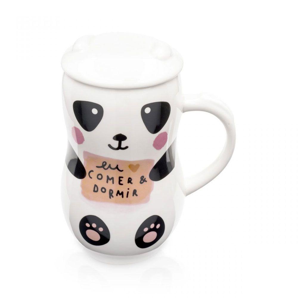 Caneca com Tampa Amo Panda