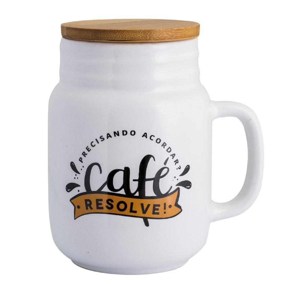 Caneca Conserva com Tampa - Café Resolve