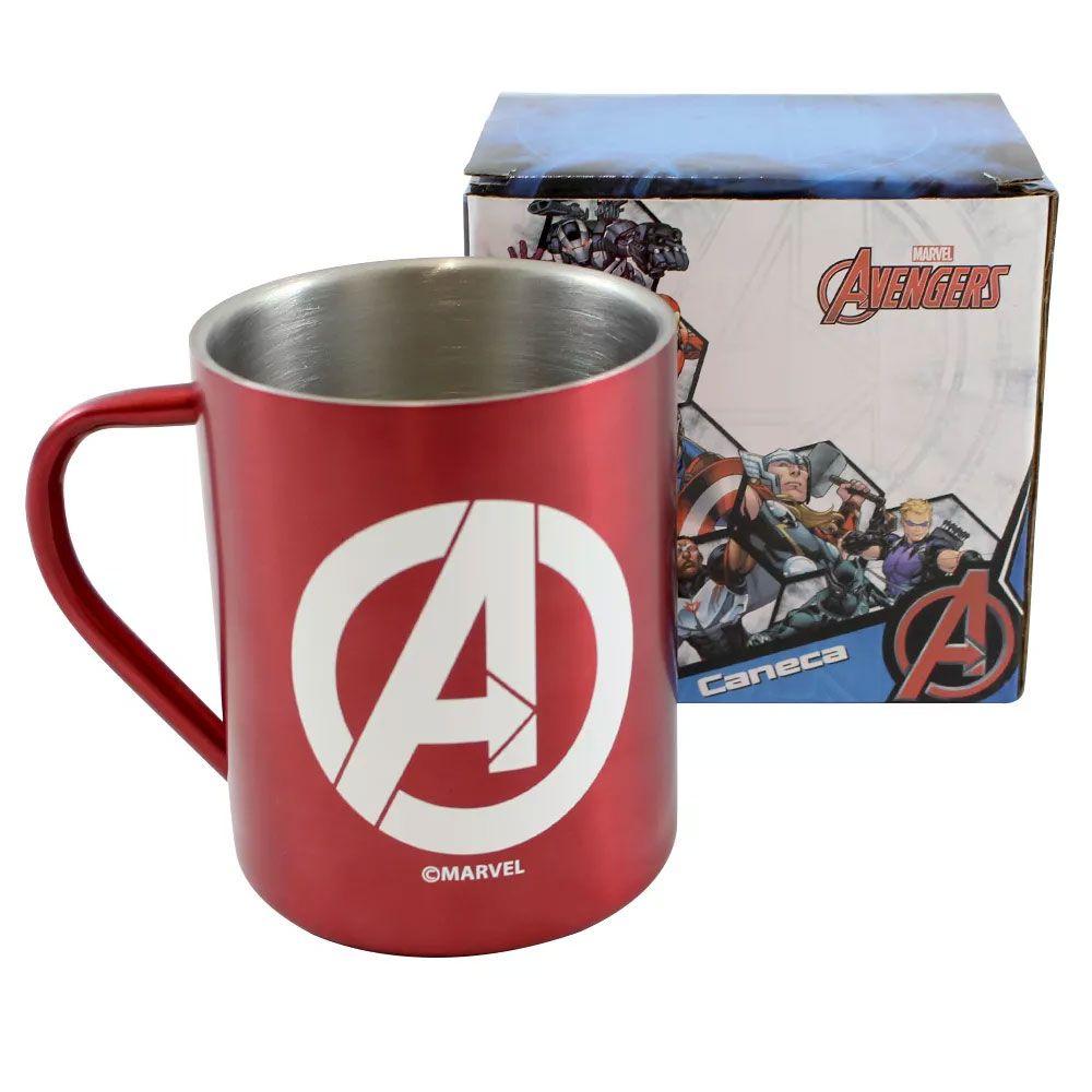 Caneca de Aço Vingadores - Avengers