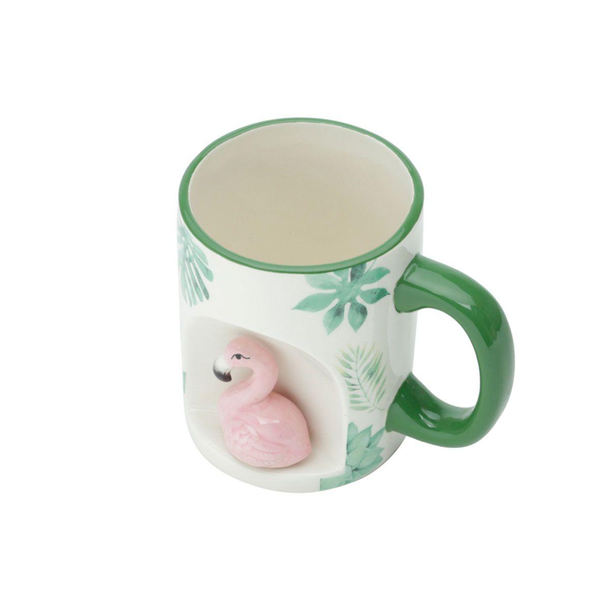 Caneca de Cerâmica 3D Flamingo 350 ml