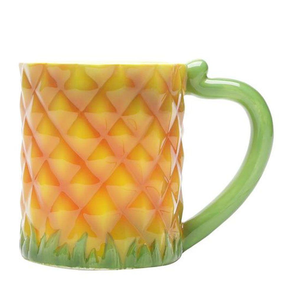 Caneca de Cerâmica Abacaxi Pineapple 350 ml
