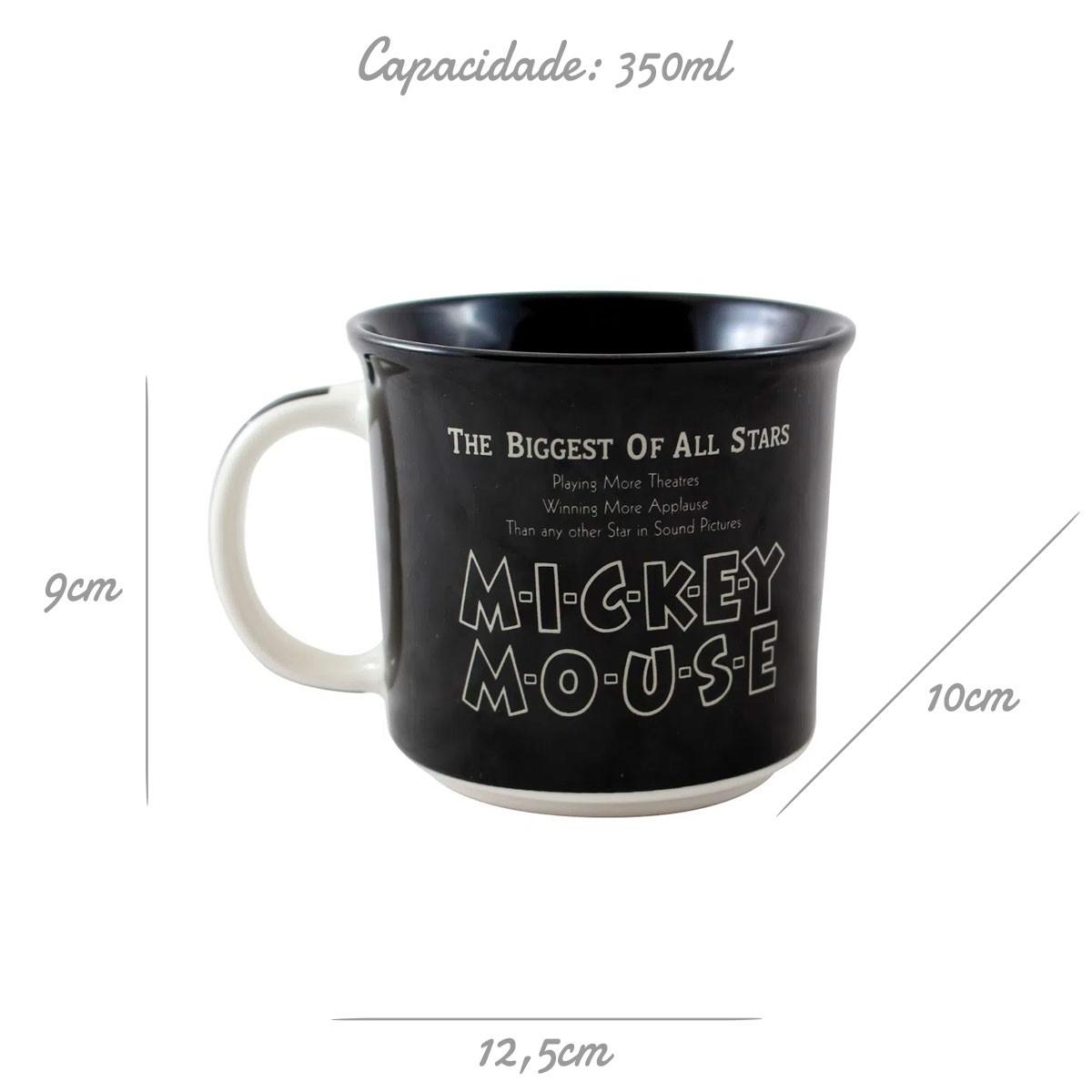 Caneca de Cerâmica Mickey Mouse 90 Anos 350 ml
