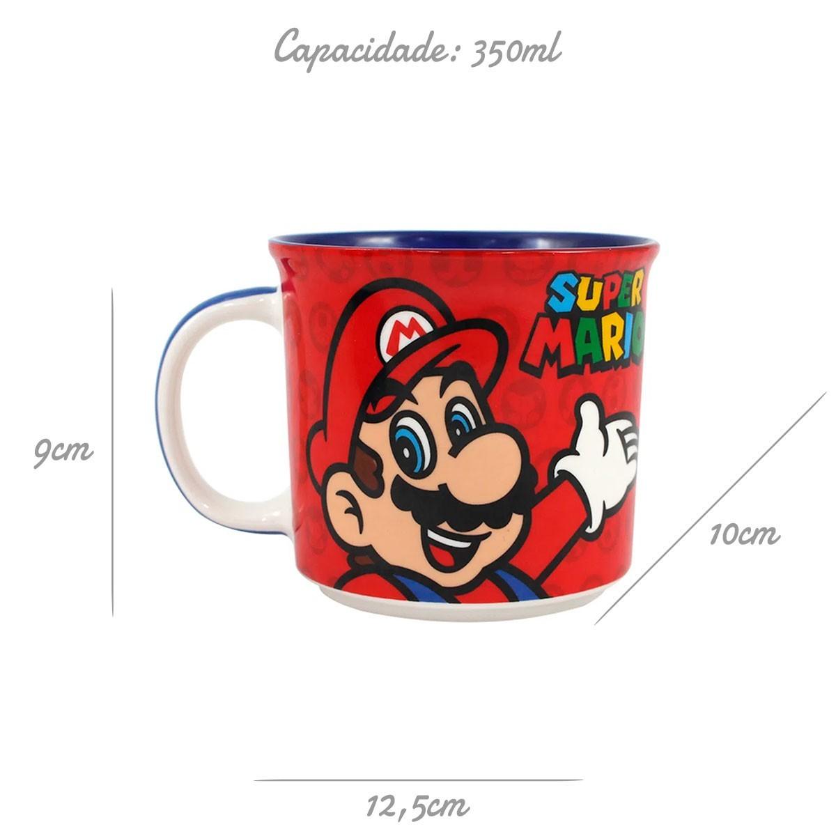 Caneca de Cerâmica Super Mario  350 ml