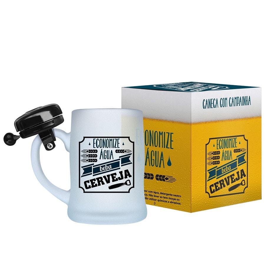 Caneca De Chopp Campainha Economize Água Beba Cerveja