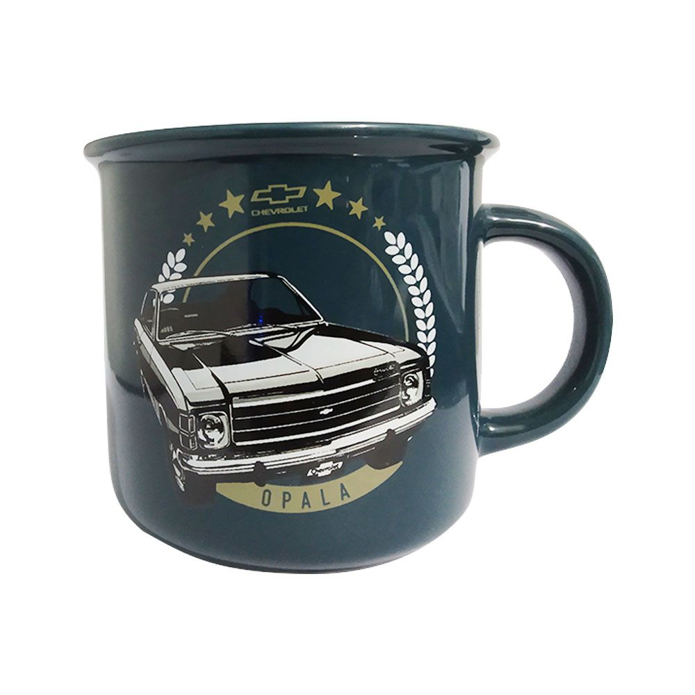 Caneca de Porcelana Antique GM Opala Azul