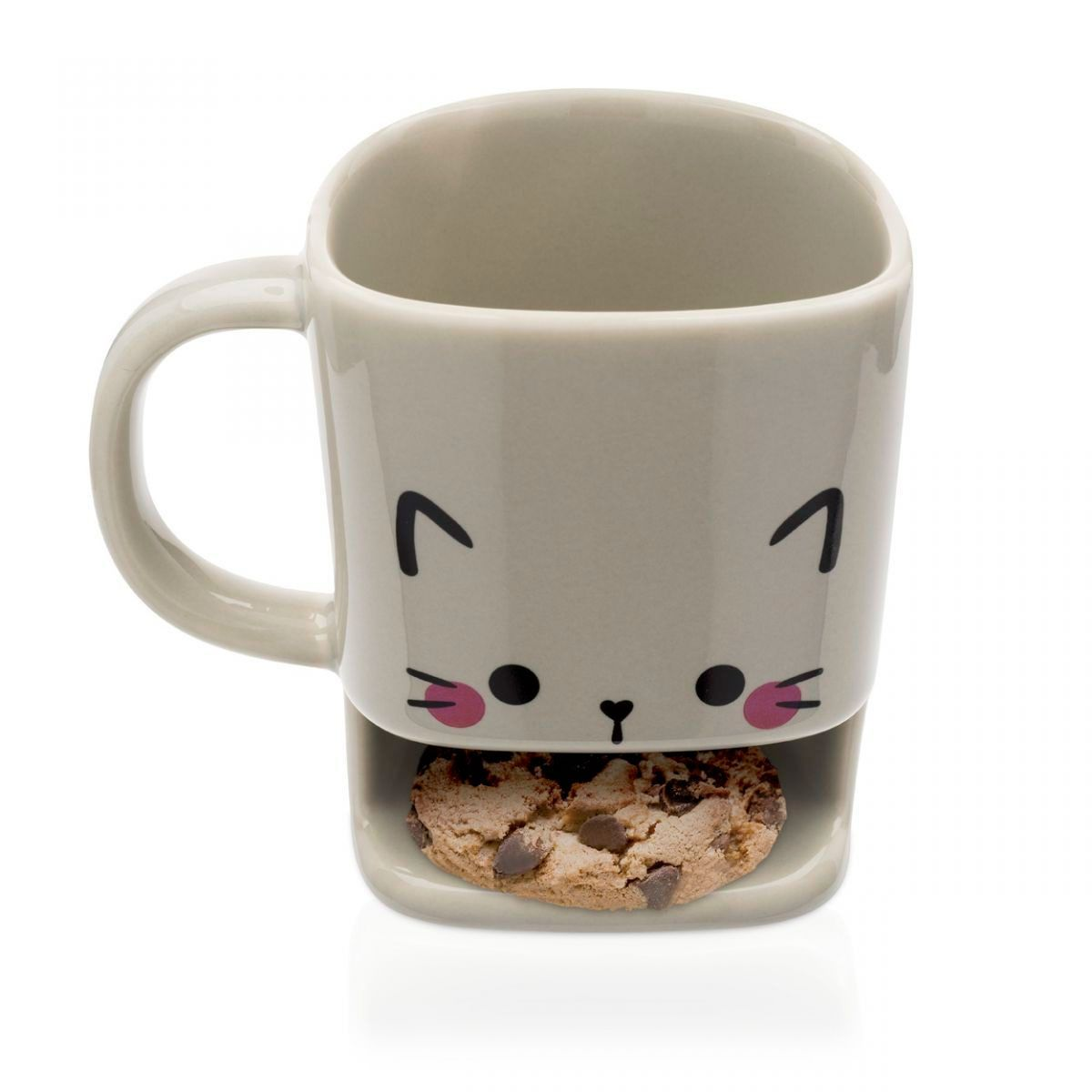 Caneca de Porcelana Porta Biscoitos Gato 180 ml
