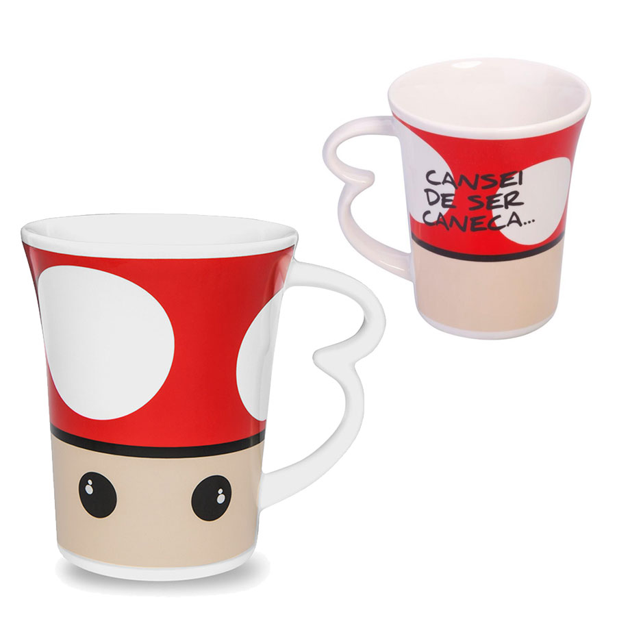Caneca Easy 330ml Up Cogumelo Gamer