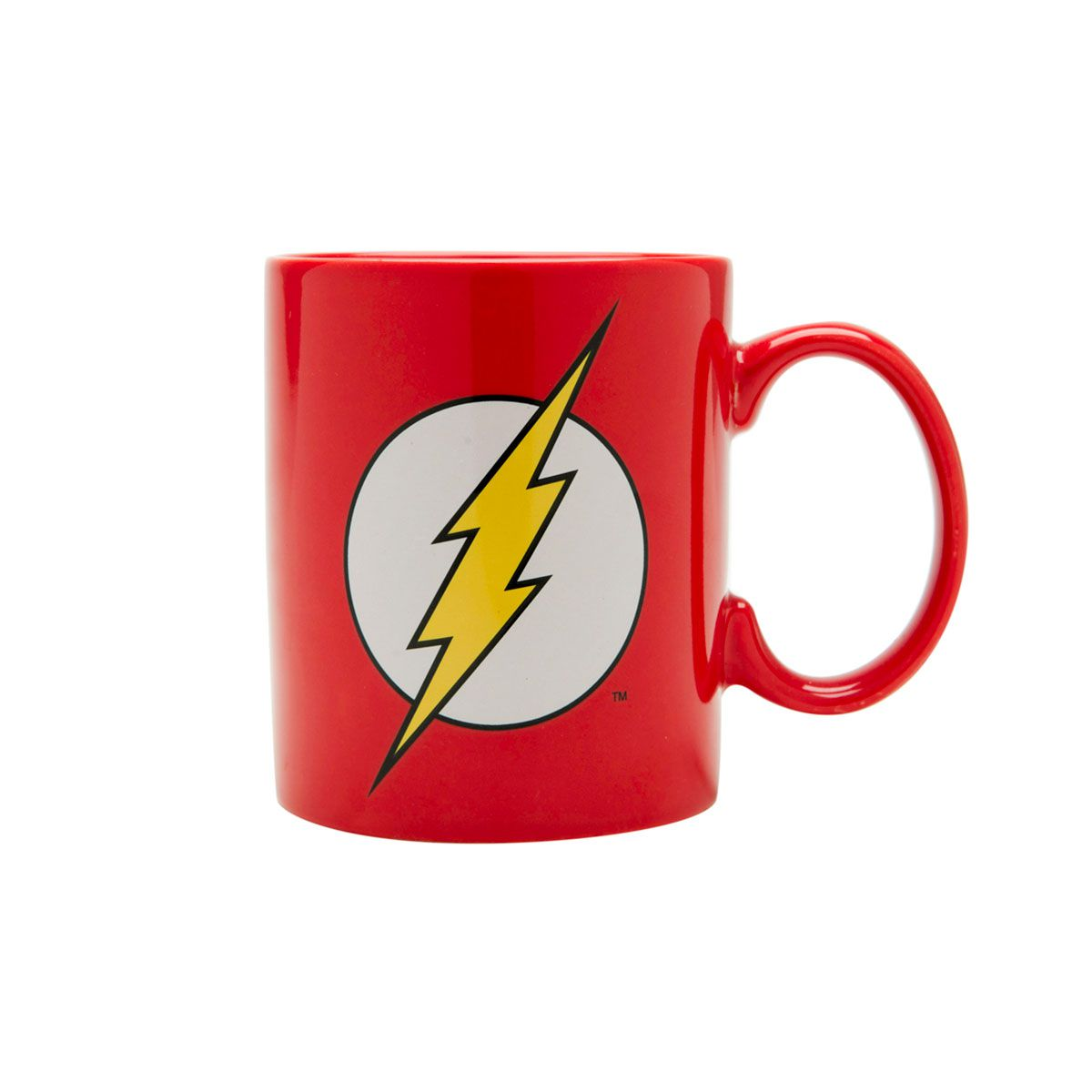Caneca Flash Logo Amarela Dc Comics