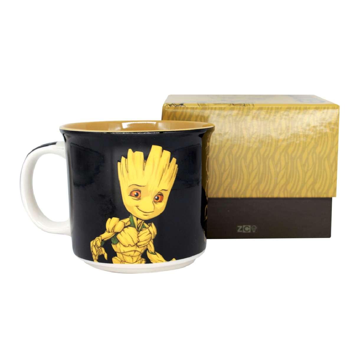 Caneca Groot Guardiões da Galáxia Marvel