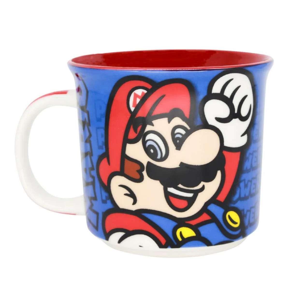 Caneca Super Mario Bros Ação Nintendo
