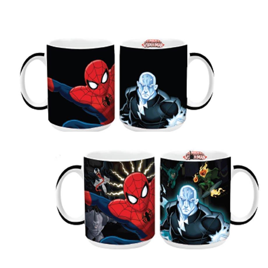 Caneca Mágica Termossensível Homem Aranha Spiderman Marvel