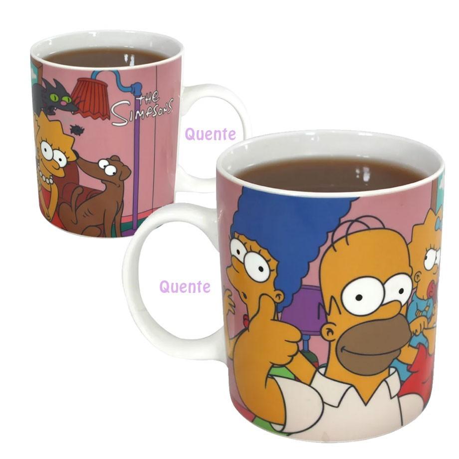 Caneca Mágica Termossensível Família Simpsons