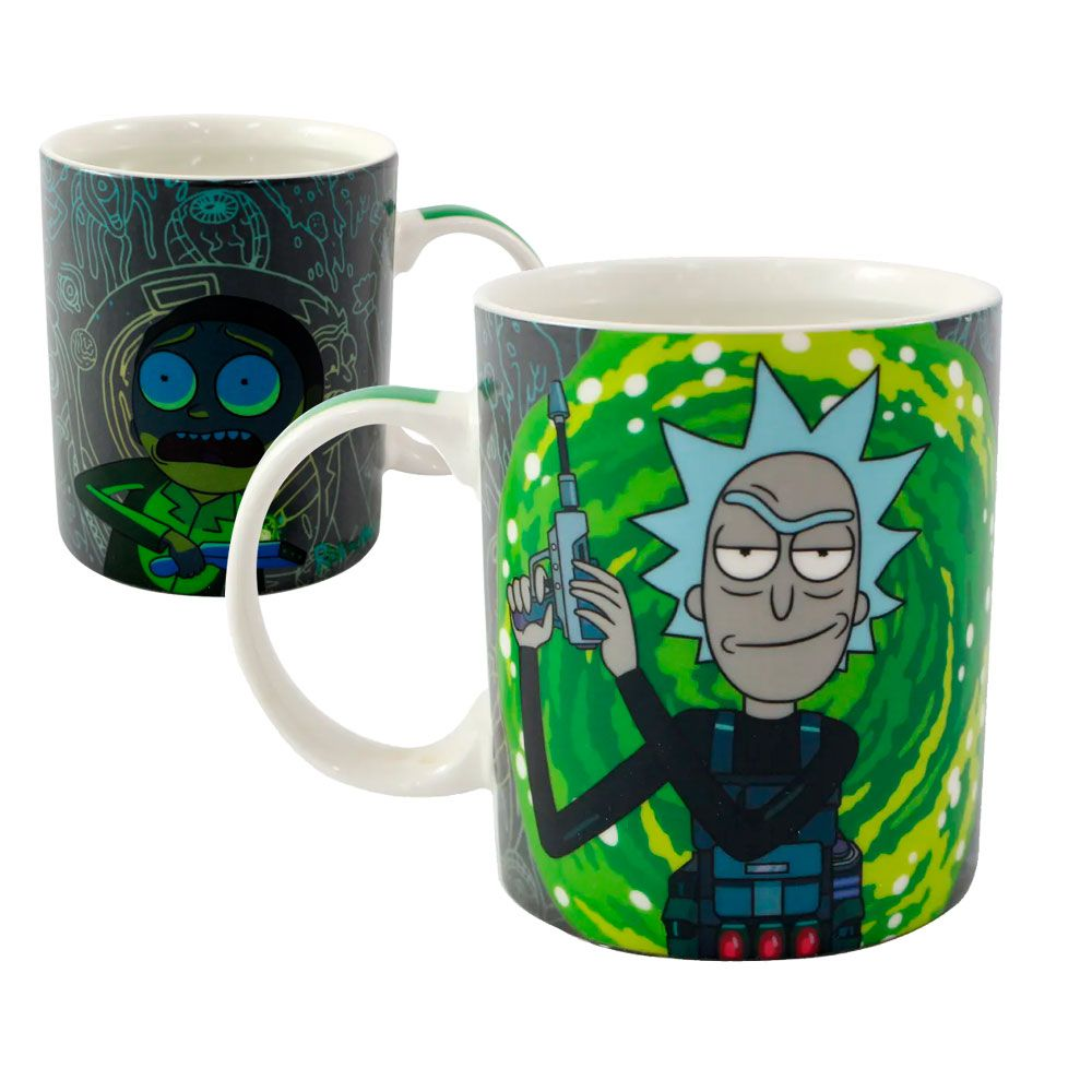 Caneca Mágica Termossensível Rick e Morty