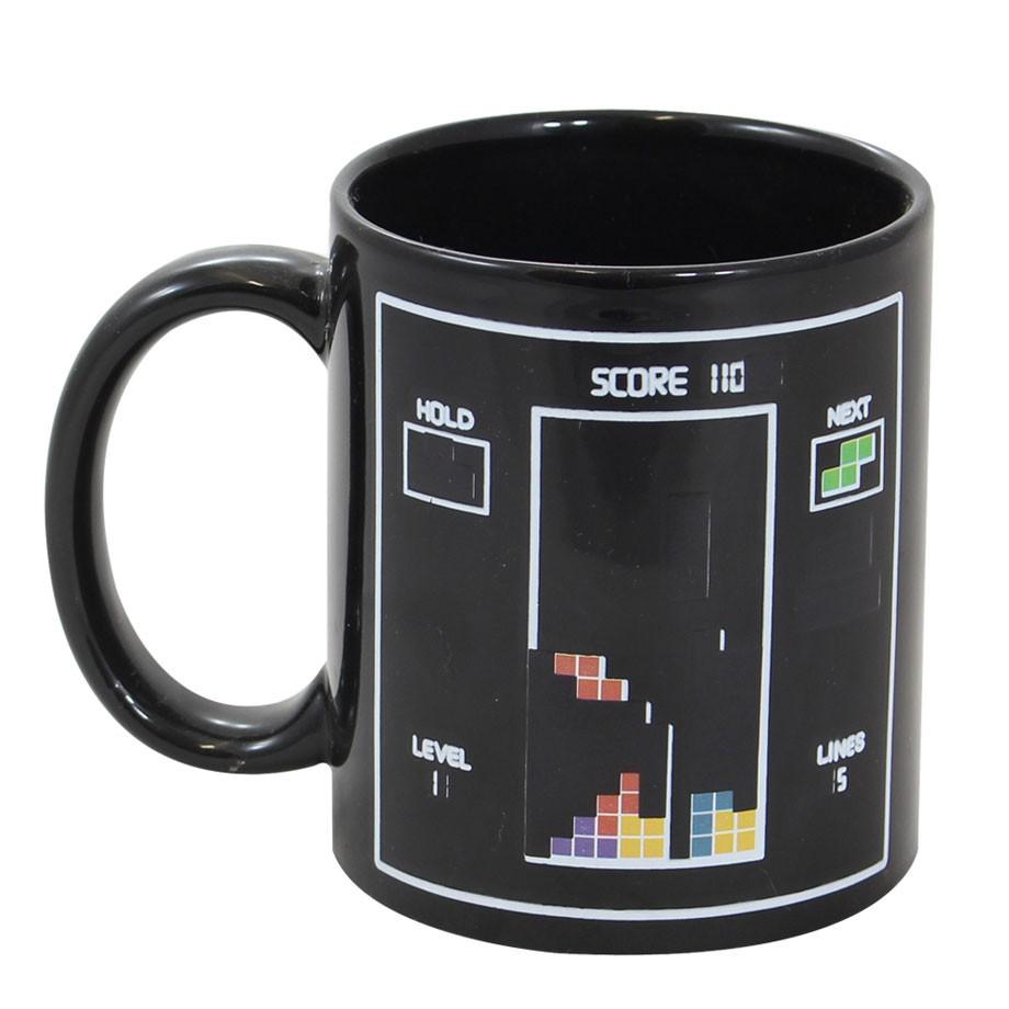 Caneca Mágica Termossensível Tetris Gamer Retro