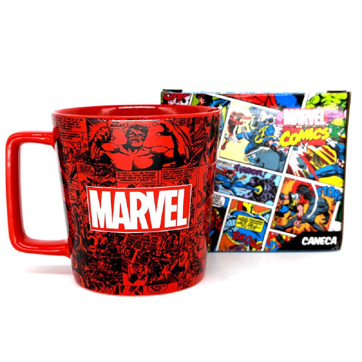 Caneca Heróis Marvel Classic Logo HQ