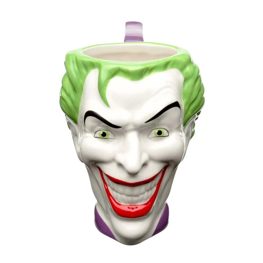 Caneca Porcelana 3D Coringa Joker Face