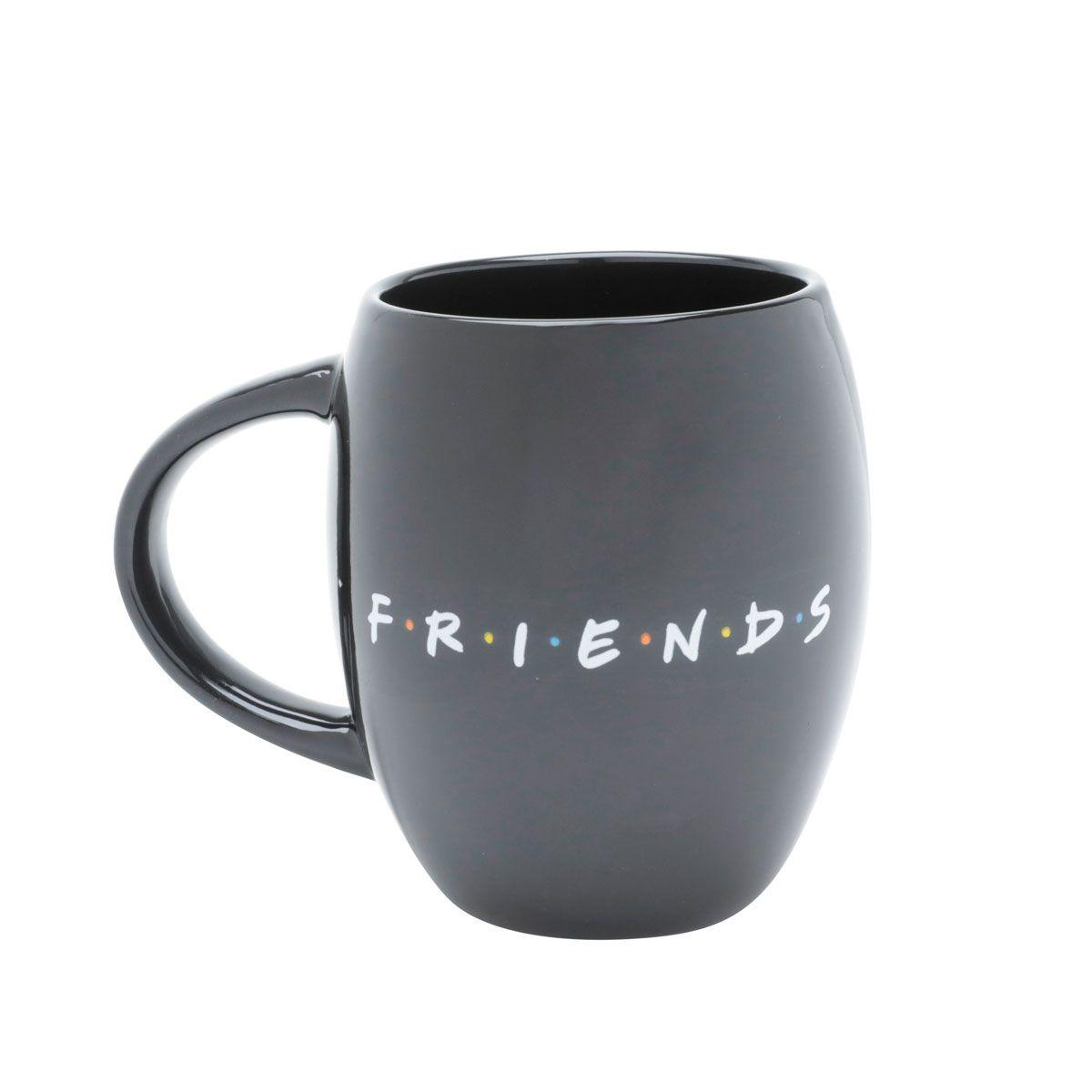 Caneca Porcelana Bulging Friends Logo Preto