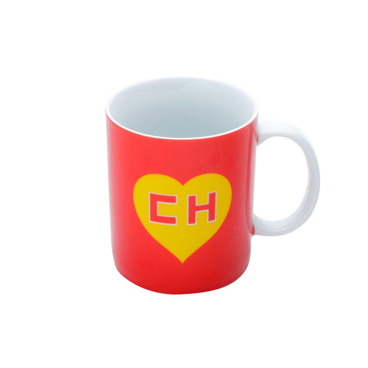 Caneca Porcelana Chapolin Colorado - Logo